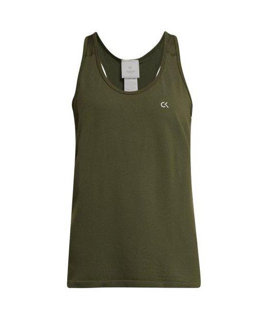 d1cfd1f96a28b Calvin Klein - Green Seamless Tank Top - Lyst ...