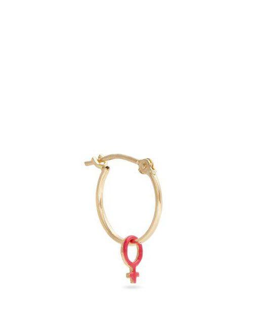 Alison Lou - Metallic Enamel & Yellow-gold Girl Power Earring - Lyst