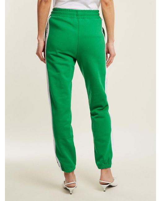 Msgm Pantalon de jogging en coton à logo imprimé x6mScSx
