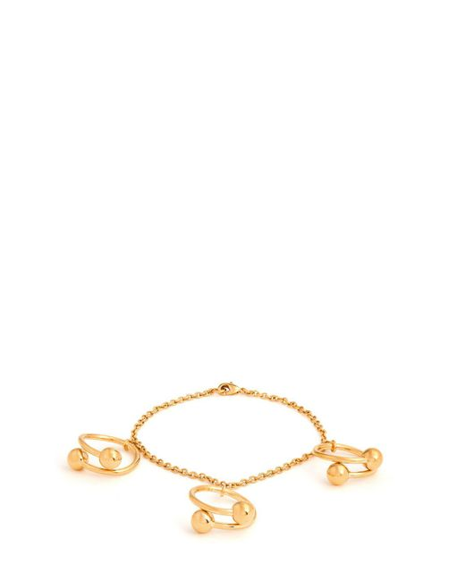 J.W. Anderson - Metallic Double Sphere Gold Plated Bracelet - Lyst