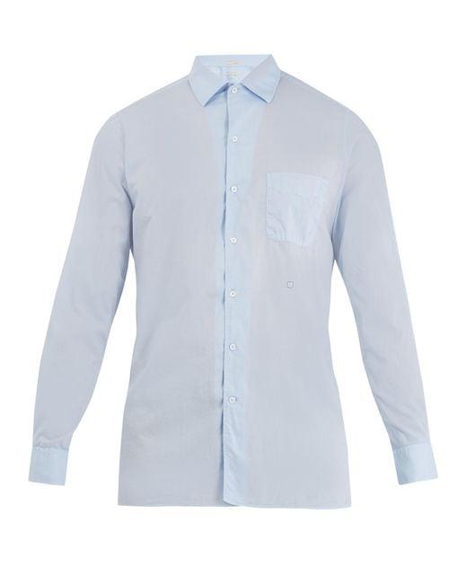 Massimo Alba | Blue Point-collar Cotton Shirt for Men | Lyst