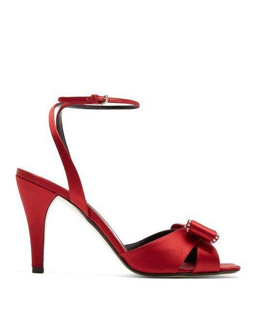 Embellished satin sandals Loewe b9p7SW