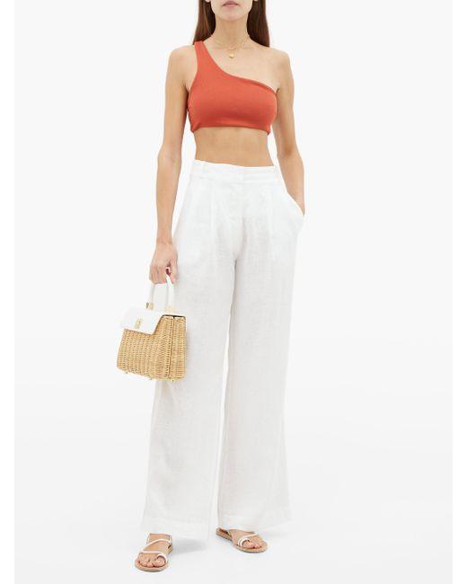 Haight Women's Perlin One-shoulder Crepe Bikini