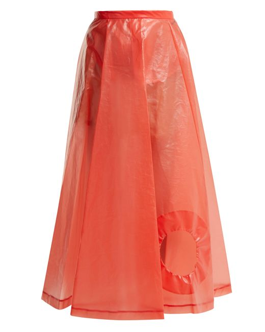 Toga - Red Laminate Cut Out Skirt - Lyst