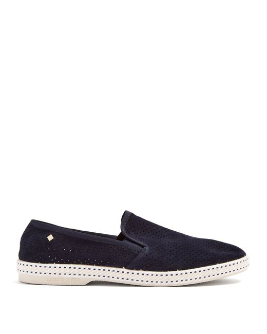 Rivieras - Blue Sultan Suede Loafers for Men - Lyst