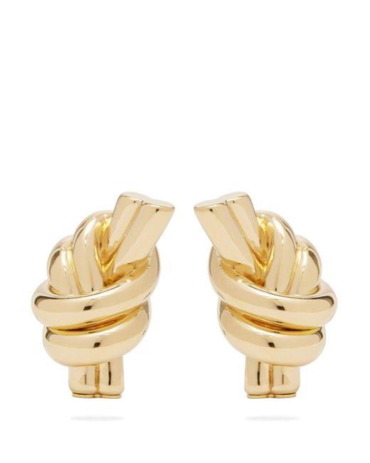 J.W. Anderson - Metallic Knot Gold Plated Brass Earrings - Lyst