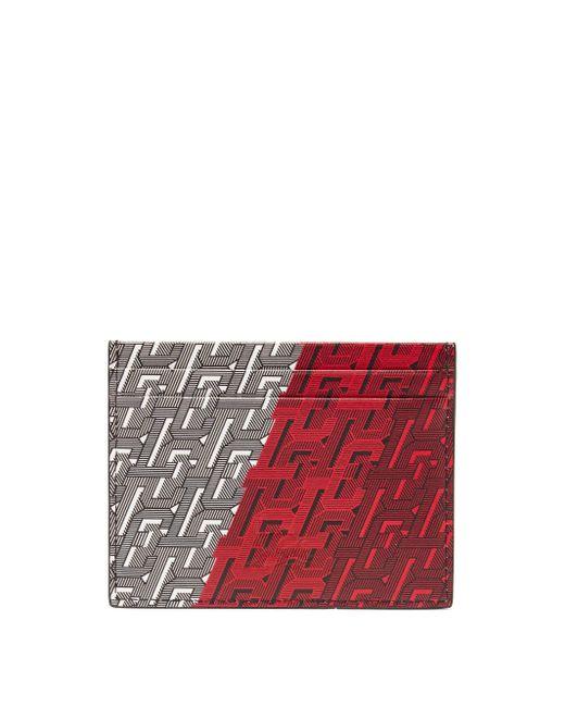 メンズ Christian Louboutin キオ Clモノグラム レザーカードケース Red