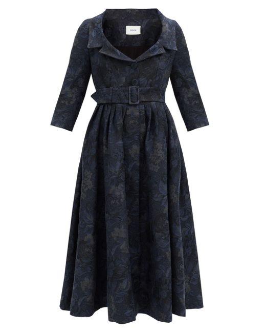 Erdem メリル フローラルジャカードドレス Blue