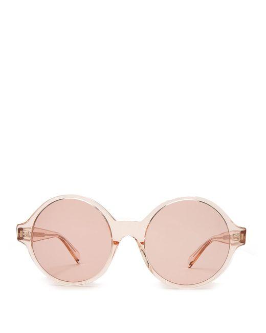 Céline Pink Oversized Round Acetate Sunglasses