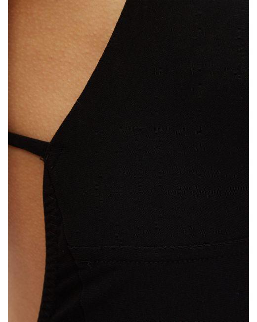 Robe longue en jersey évasée Norma Kamali en coloris Black