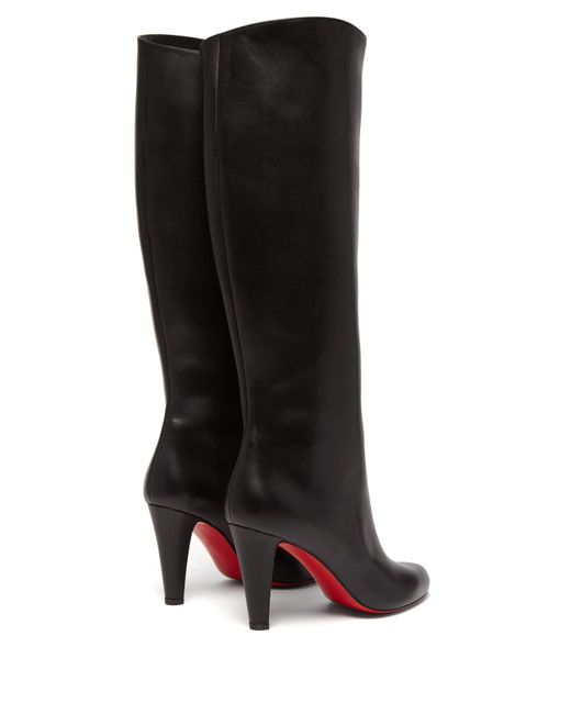 new style b17bf b6bdf Women's Black Marmara 85 Leather Knee High Boots