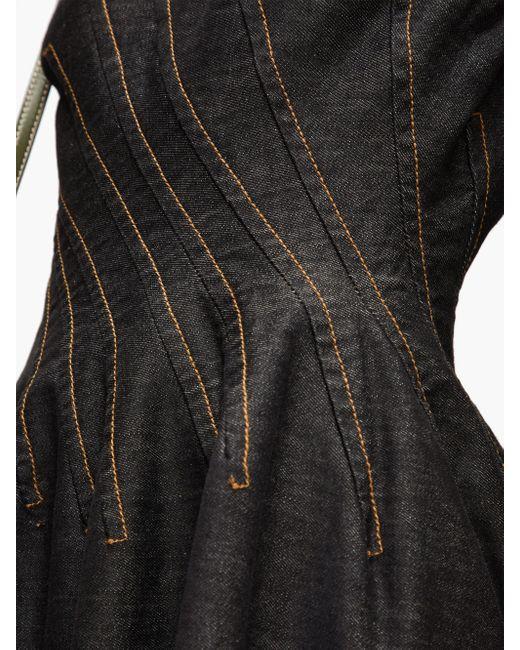 Marni ピンタック コットンデニムドレス Black