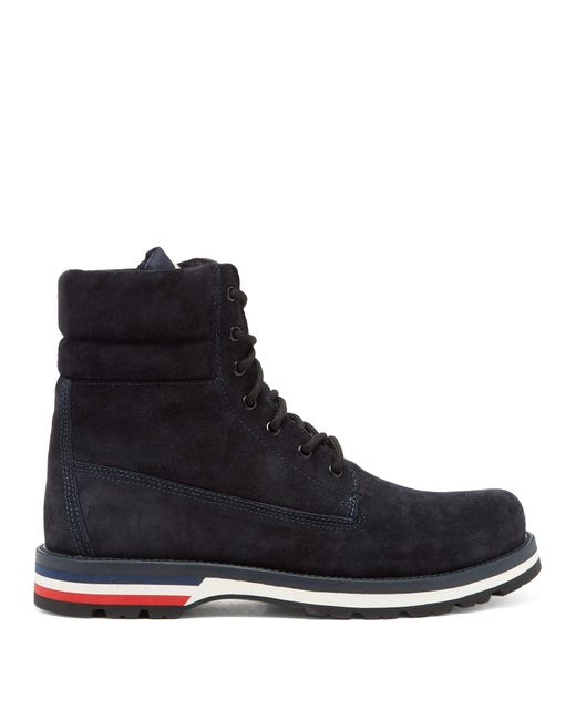 Moncler Blue Vancouver Suede Hiking Boots for men