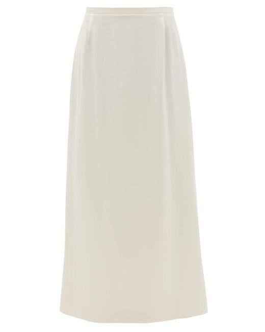 La Collection アプロディーテ シルクサテンスリップスカート White