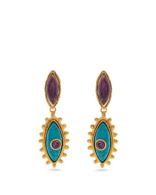 Sylvia Toledano Evil Eye gold-plated clip-on drop earrings ZBRGD5PG