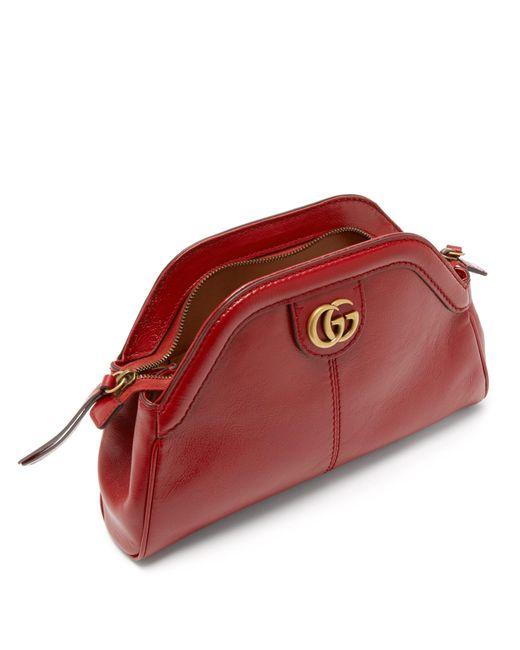 Lyst - Sac bandoulière en cuir Re(belle) Gucci en coloris Rouge 813cbd15868