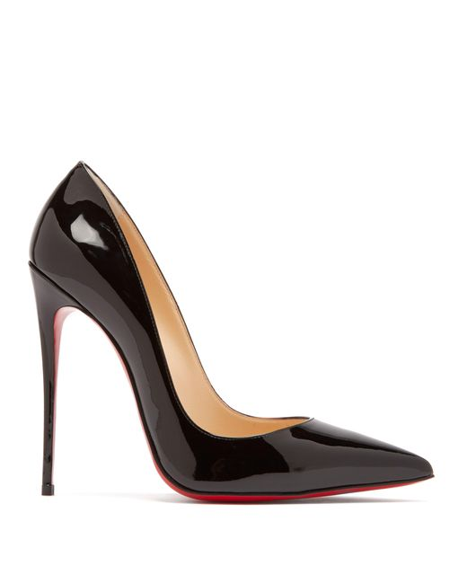 Escarpins en cuir verni So Kate 120 Christian Louboutin en coloris Black