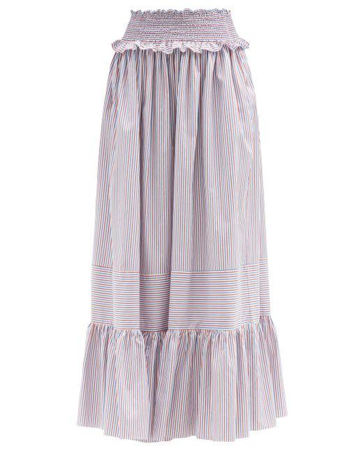 Loretta Caponi アミラ ストライプ コットンマキシスカート Multicolor