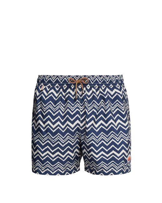 Missoni Blue Zigzag Print Swim Shorts for men