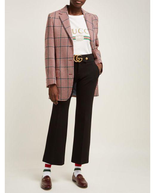 Gucci ウェブストライプ コットンブレンドソックス Multicolor