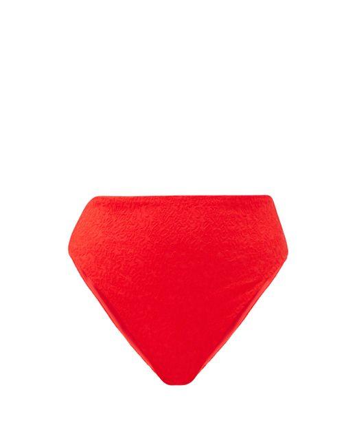 Mara Hoffman イミナ フローラル クロッケビキニボトム Red