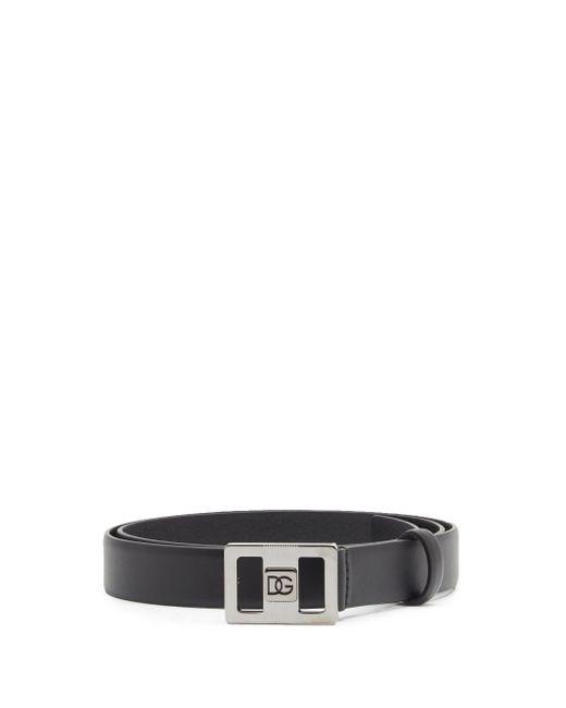 メンズ Dolce & Gabbana レザーベルト Black