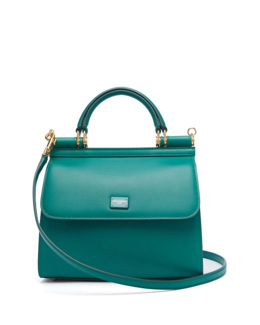 Dolce & Gabbana Green Sicily Small Leather Bag