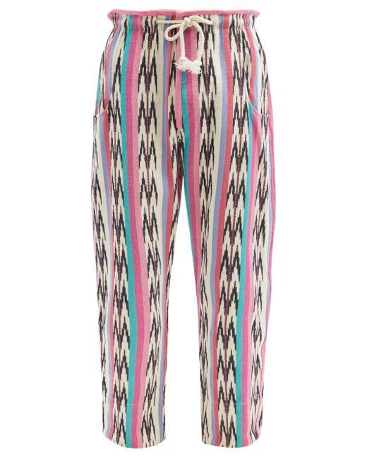 メンズ Isabel Marant イアゴ ストライプ コットンパンツ Multicolor