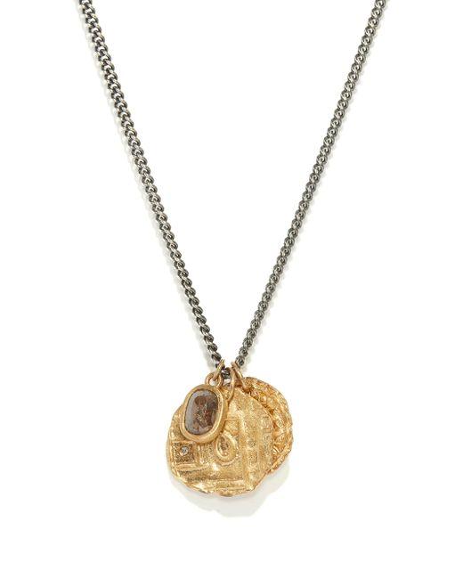 メンズ M. Cohen The Tiba Coins ダイヤモンド 18kゴールドネックレス Metallic