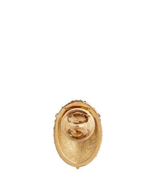 Ladybird crystal-embellished pin brooch Sonia Rykiel itSf2q29V