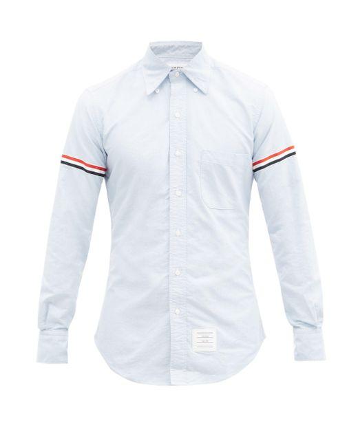 メンズ Thom Browne ボタンダウンカラー コットンシャツ Blue
