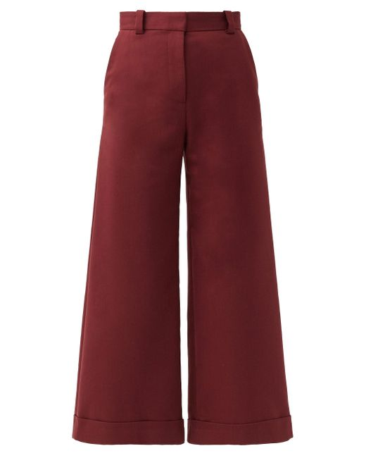See By Chloé See By Chloé ハイライズ コットンブレンド キュロット Red
