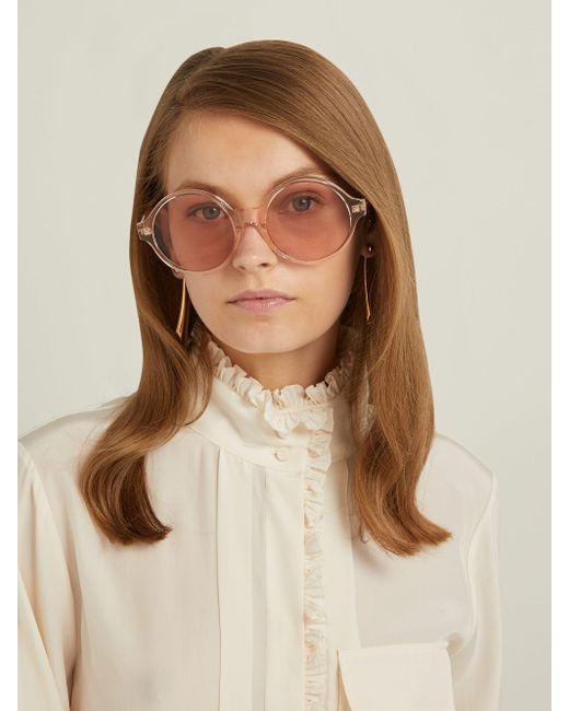 Céline オーバーサイズ ラウンドフレーム アセテートサングラス Multicolor