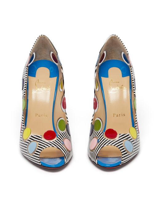 Christian Louboutin Lady Bug パテントレザーパンプス 100 Multicolor