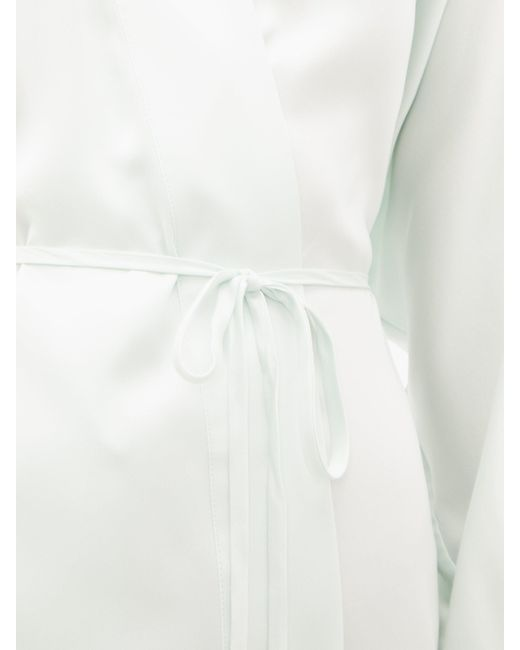 Lunya エラスティックカフス シルクナイトガウン White