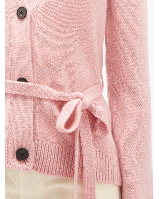 Brock Collection ベルテッド カシミアカーディガン Pink