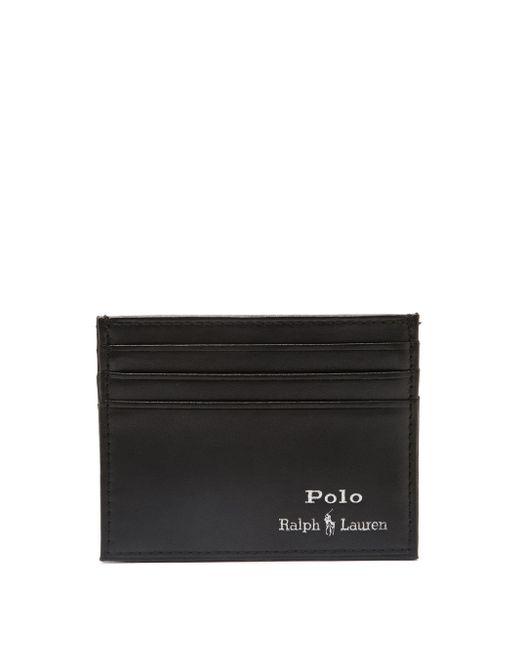 メンズ Polo Ralph Lauren サフォーク Rlpc 67 レザーカードケース Black