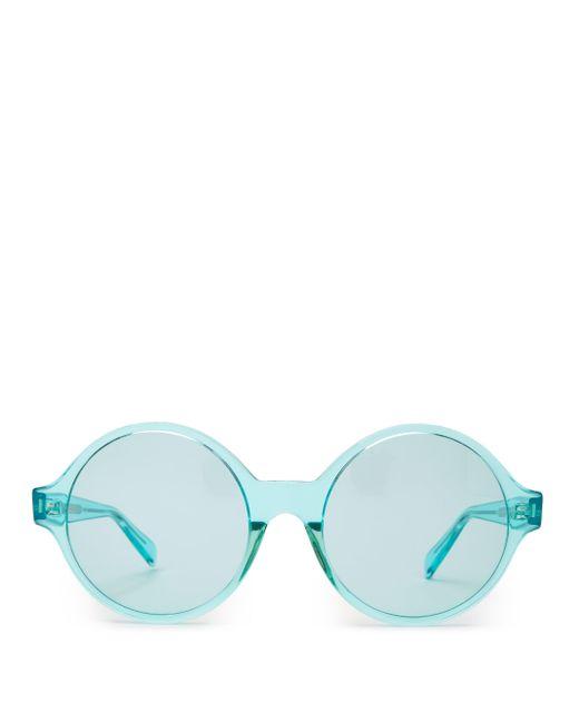 Céline ラウンドフレーム アセテートサングラス Blue
