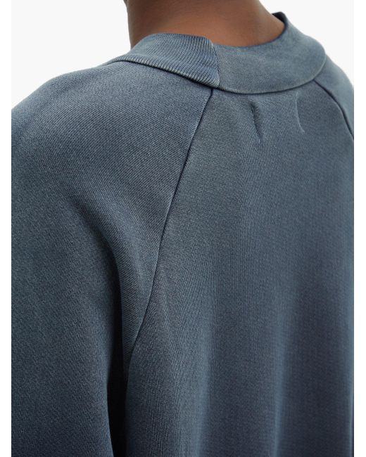 Les Tien オンブレ ブラッシュドバックコットンスウェットシャツ Blue