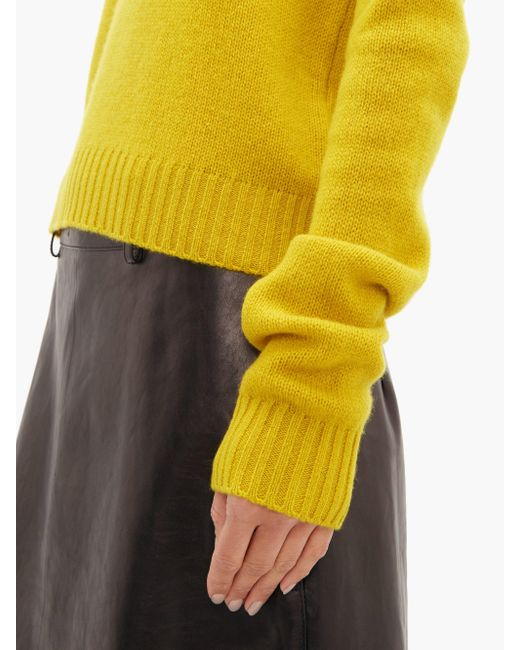 Bottega Veneta オーバーサイズスリーブ セーター Yellow