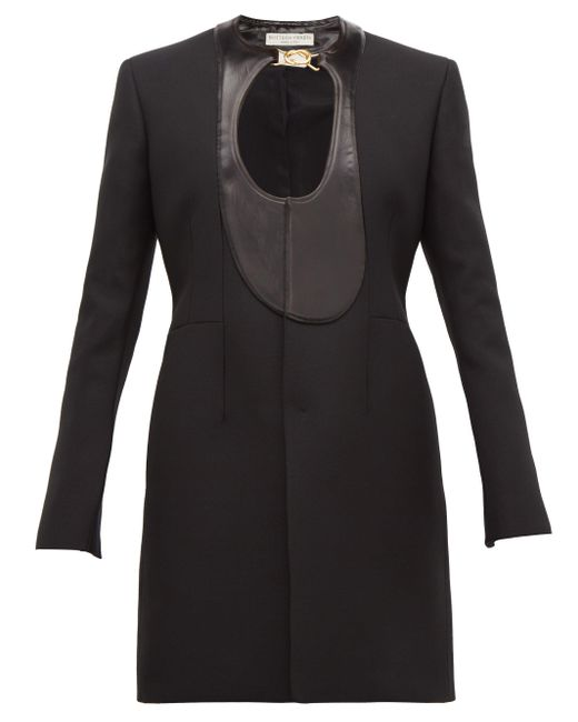 Bottega Veneta サテンパネル シングルコート Black