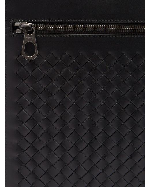 89a671955611 ... Bottega Veneta - Black Intrecciato Briefcase for Men - Lyst