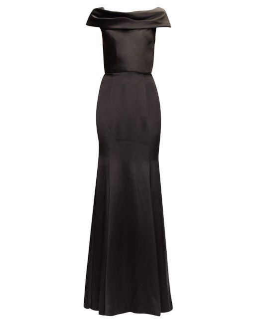 Dolce & Gabbana カウルネック シルクサテンドレス Black