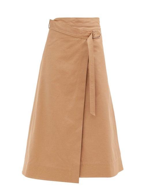 Gabriela Hearst リンダ コットンラップスカート Multicolor