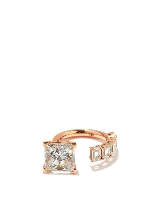 SHAY フローティング プリンセス ダイヤモンド 18kローズゴールドリング Multicolor