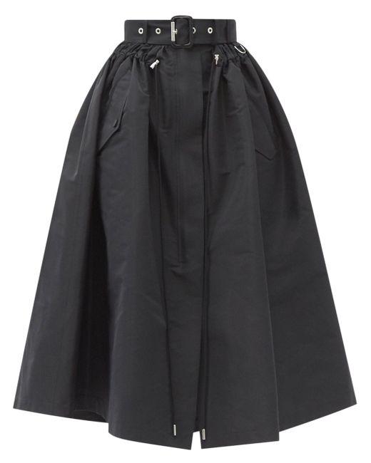 Alexander McQueen ベルテッド ファイユスカート Black