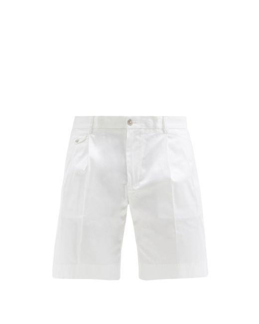 メンズ Dolce & Gabbana コットンツイルショートパンツ White