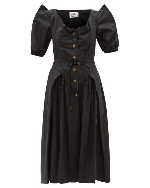 Vivienne Westwood サタデー オーガニックコットンポプリンドレス Black