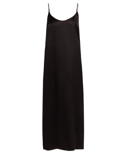 La Perla ルンガ シルクサテン スリップドレス Black