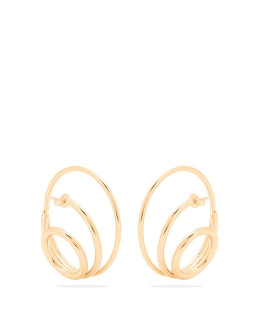 Charlotte Chesnais | Metallic Ricoche Gold-plated Earrings | Lyst